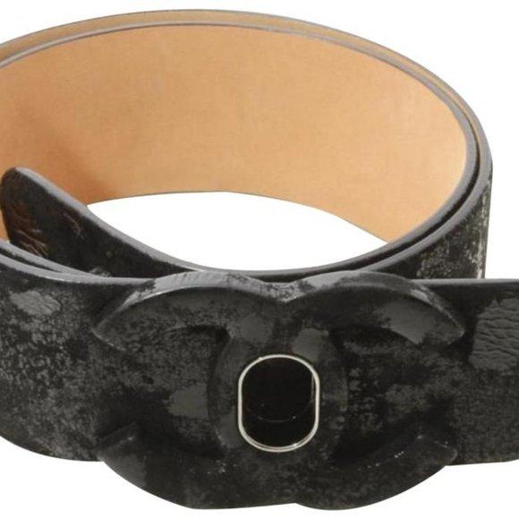 Chanel 09A Turnlock CC Black Belt 861887